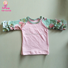7c2640ea Best Wholesale Icing Ruffle Raglan Tops Toddler Boutique Girl 3/4 Sleeve  Floral Baseball Blank