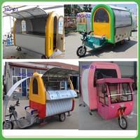 Buy Ice cream display trailer kiosk food wagon cart mobile selling ...