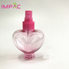 Unique hot pink heart shape PET plastic 120ml spray bottle for perfume