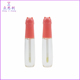 Plastic cosmetic lip gloss tube design cute kitty liquid lipstick container with kitten cat shape cap pink round 13.4ml ZC65039