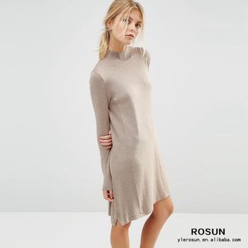 Loose Turtleneck Dress