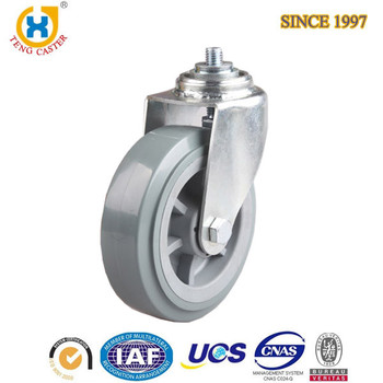 100mm PU Screw Small Roller Wheel ,Rotatable Swivel Wheel Casters With Double Ball Bearing.
