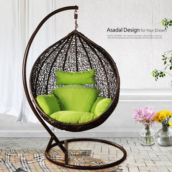 Outdoor Wicker Furniture Rattan Swing Chair Porch Swing Chair With