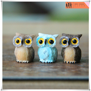 custom owl lawn decorative ornament figures miniature,OEM miniature dollhouse decor animal,OEM custom miniature figures factory