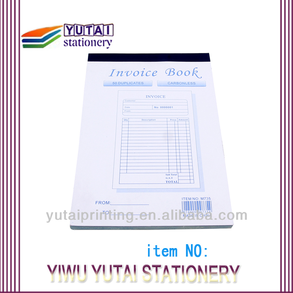 New Design Carbonless Invoices Consignment Invoice Book Printing