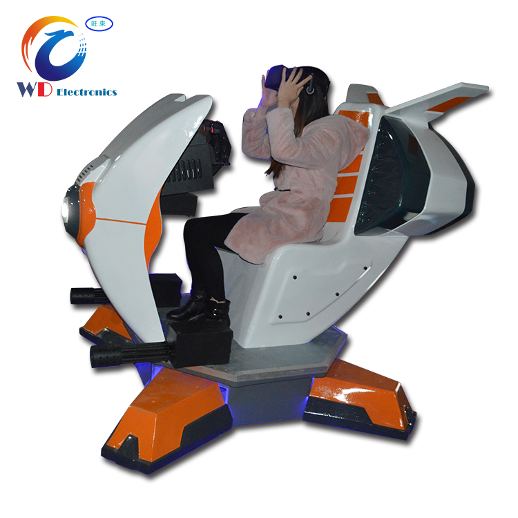 (WD-9D VR) Interactive VR simulator experience, walking space vr flight simulator 2 seats