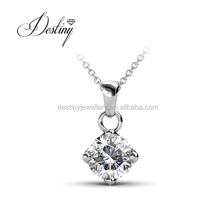 Destiny Jewelery 925 silver wholesale pendant necklace made with Crystals from Swarovski