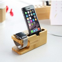 2019 Fashion Design Bamboo Charging Base Multi-Function Charging Stand for iphone High Quality Charging Dock