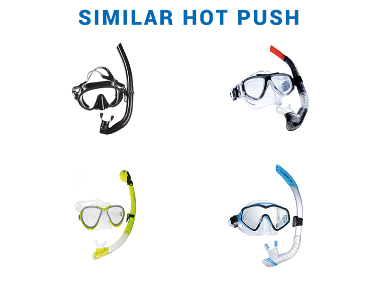 Leisure time adult/kids scuba diving all dry full face mask and snorkel set