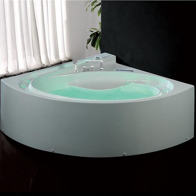 New Walk In Corner Acrylic Massage Bathtub With Led Waterfall