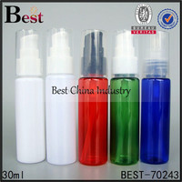 wholesale new beautiful plastic bottle, high quality white pump cosmetic bottle1.01oz ,hot alibaba small baby bottles,refill