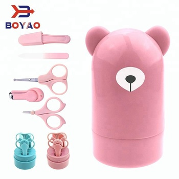 free sample In stock High Quality Creative New Products 5 PCS Baby Beauty Care set Safe Scissors Nail Clipper Manicure Care Set