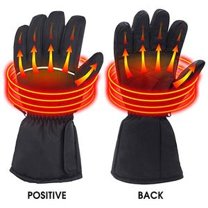 Winter Rechargeable Battery Powered Electric Heated Warm Gloves for Outdoor Camping