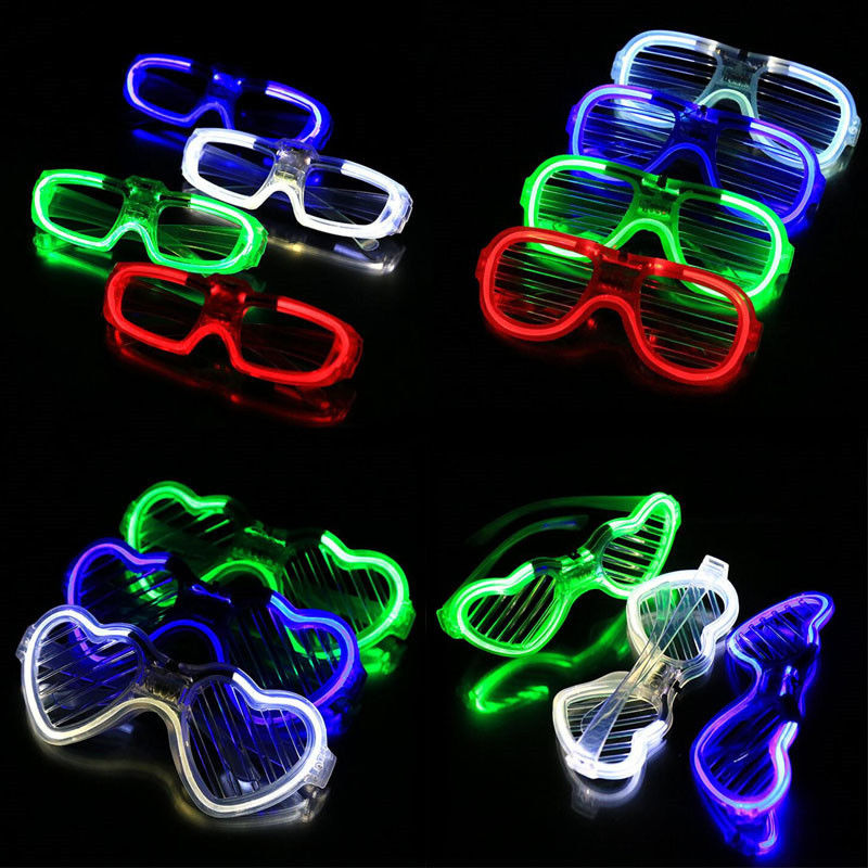 party decoration glasses glow in the dark led light glasses