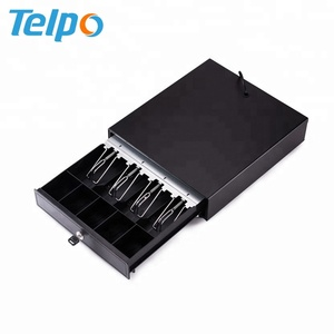 Steel 4 bills 5 coins Rj11 Pos Cash Drawer Cabinet For Retail Restaurant