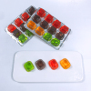 good price 10pcs square shaped cup assorted mini fruit jelly