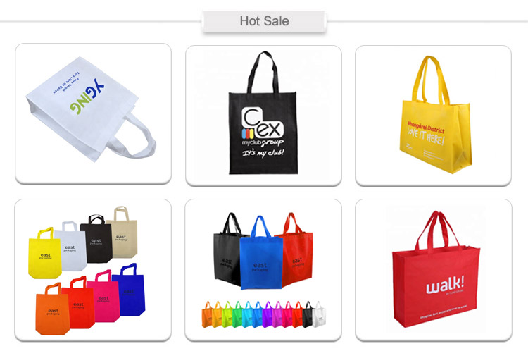 शीर्ष गुणवत्ता प्रचारक संभाला शैली Foldable पुन: प्रयोज्य शॉपिंग बैग पीपी गैर बुना बैग ले जाना