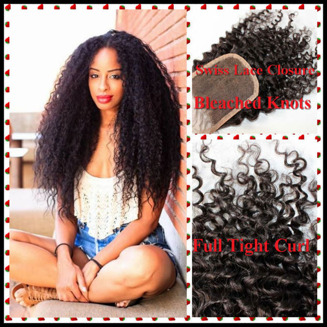 Stupendous Aliexpress Com Buy Cheap 6A Afro Kinky Curly Closure 4 4 Top Hairstyles For Women Draintrainus