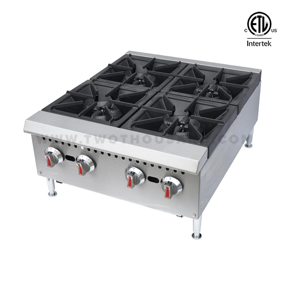 Ghp 4l 4 Burners Etl Countertop Hotel Gas Cooking Stove Hot Plate