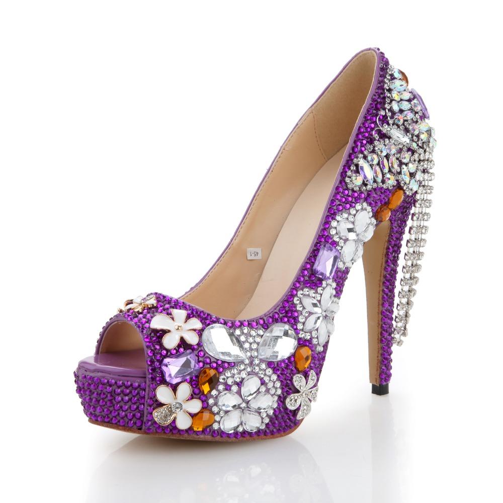 da8ede661 Purple Heels  Purple Crystal Heels