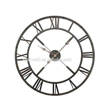 Hot Sell Promotional High Quality Custom-Made Metal Frame Decorative Art Large Wall Clock