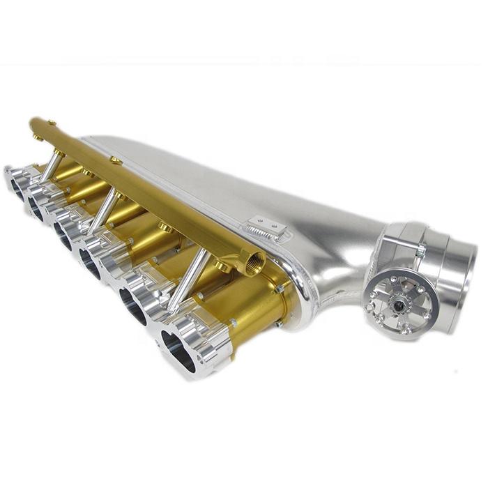 Высокопроизводительный, изготовленный на заказ алюминиевый 2jz заготовка v6 цилиндрический впускной коллектор, изготовленный для автомобильного двигателя