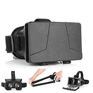 LEAP-HD 2015 NEW UPDATED! VIRTUAL REALITY CARDBOARD TOOLKIT SMARTPHONE VIRTUAL REALITY VIEWER ColorCross Universal Google Cardboard Plastic Version 3D VR Complete Kit Virtual Reality Glasses Headset for Real HD 3d Experience