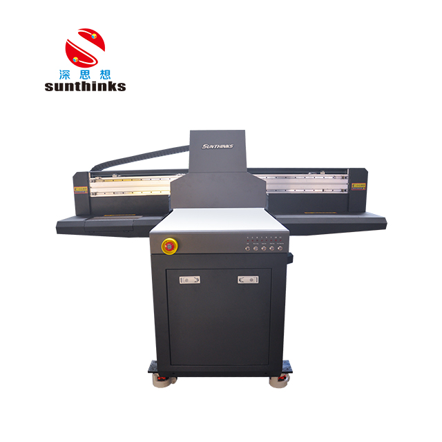 Popular GH2220 heads small format 0609 uv flatbed printer with high quality Sunthinks Manufacturer