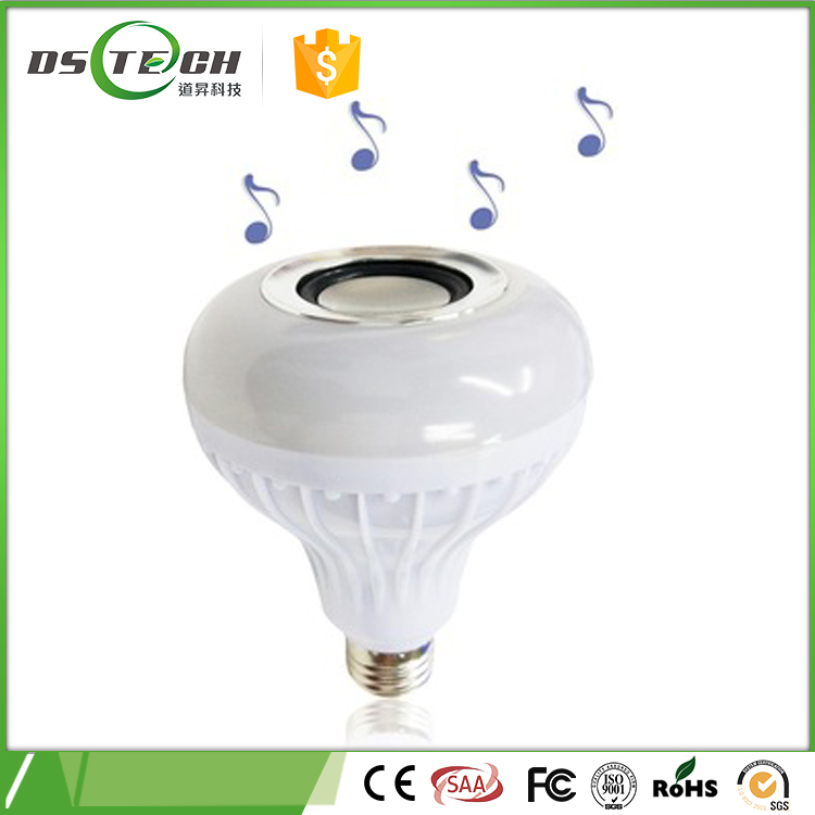 Alibaba led lights Bluetooth speaker eight color E27 RGB remote control 12w led bulb light led lighting