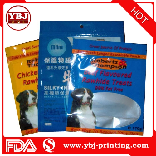 china guangzhou cheap price pet dog food bag with resealable zipper and hanging hole