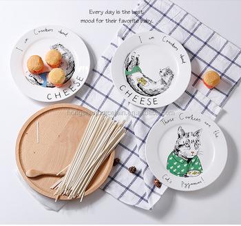 cartoon design kids porcelain dinner plate ceramic rice plate  sc 1 st  china wholesale - Alibaba & Cartoon Design Kids Porcelain Dinner Plate Ceramic Rice Plate - Buy ...