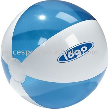Dual colors beach ball fitness outdoor inflatable beach ball