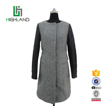 New style alpaca fur leather long jacket custom slim women coat
