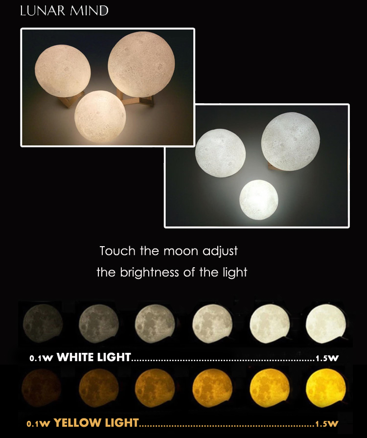 light home decor club,moon led light