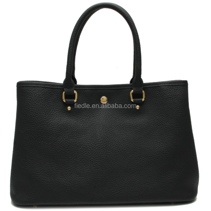CSN2267-001 Fashion wholesale Women's tote bag black leather handbag designer genuine leather ladies handbags