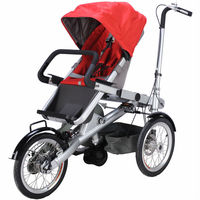 CE approved blue pushchair stroller