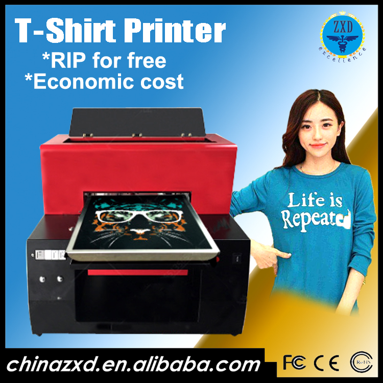 Multifunction flatbed uv 3d t-shirt printer/dtg printing machine price