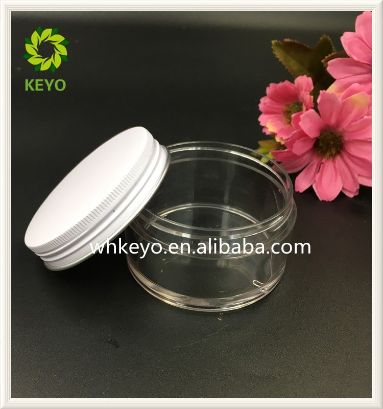 100g best selling amber colored empty cosmetic plastic jar