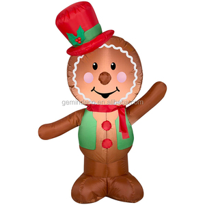 New year party ornament LED lighting red silk hat green coat gingerbread man merry christmas