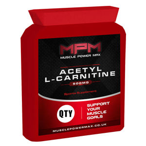 Muscle Power Max Acetyl L-Carnitine Capsule Diet Supplement Pills
