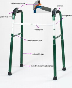 Types of aluminium foldable stair climbing morning walker