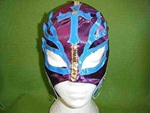 SOPHZZZZ TOY SHOP Purple Rey Mysterio Wrestling Mask Fancy Dress Up Costume Outfit Mask Mexican Childrens Boys Girls Role Play Superhero Wrestler Super Hero Restling Mask