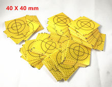 100 Pcs Kuning <span class=keywords><strong>Survei</strong></span> Retro Reflektif Lembaran Reflektif <span class=keywords><strong>Target</strong></span> untuk Total Station