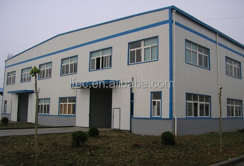 Prefab low cost godown with steel roof