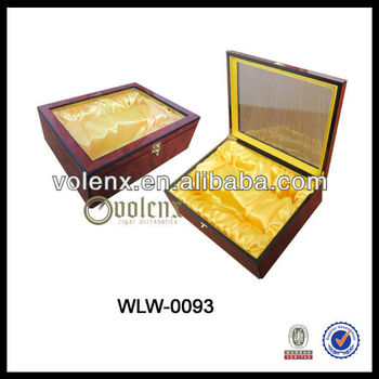 Clear acrylic wooden box for wine custom empty wine boxes for Empty wine crates