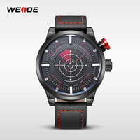 WEIDE WH5201 fashion men watch quartz japan movt genuine leather watch 3atm water resistant wholesale in China