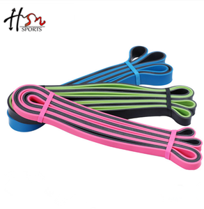 Factory High Quality Nature Latex Heavy Duty Resistance Loop Exercise Bands for Elastic training and Fitness.