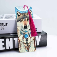 Lenticular 3d animal bookmark with tassel 3d ruler bookmark stationery