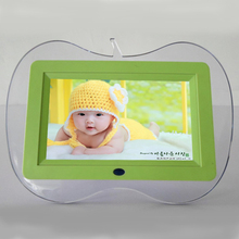 "7"" Digital Photo Frame like fruit Full-view HD TFT electronic Picture Frame mini porta retrato Alarm Clock MP3/4 Movie Player"