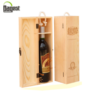 Paulownia And Pine Logo Hot Stamping Red Wine Wooden Gift Boxes
